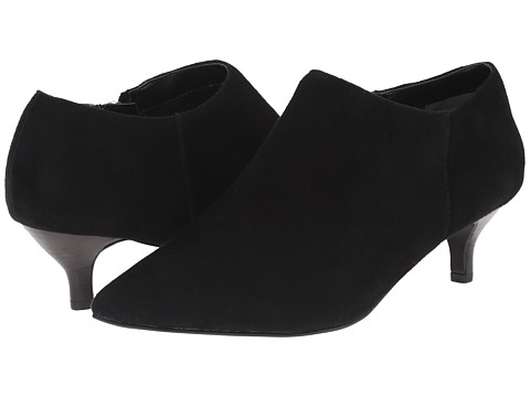 Trotters - Pearl (Black Suede Kid Suede Leather) Women