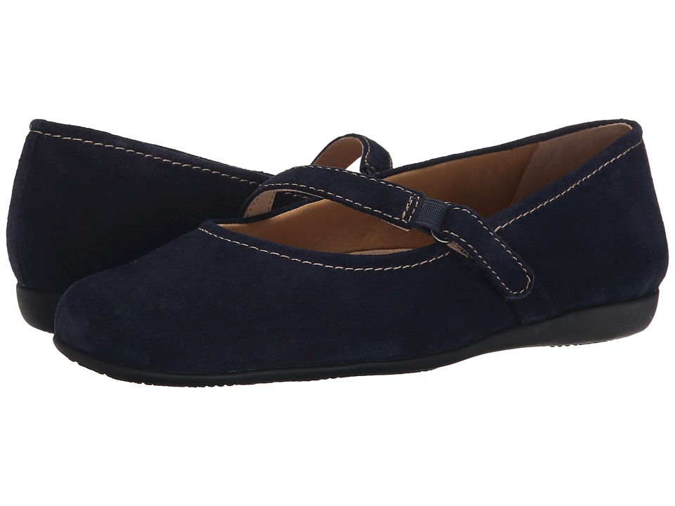 Trotters Simmy (Navy Cow Suede Leather) Women