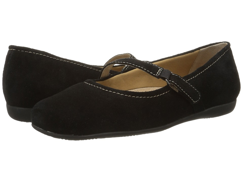 Trotters Simmy (Black Cow Suede Leather) Women