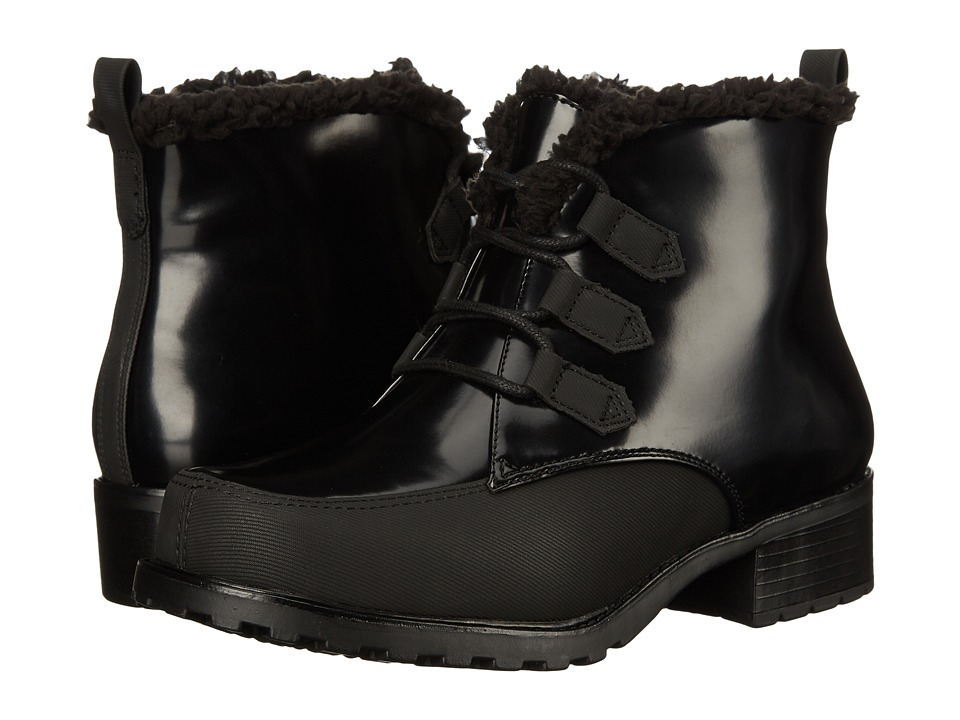 Trotters - Snowflakes III (Black Box Leather Man Made) Women's Lace-up Boots