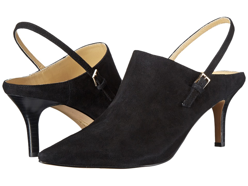 Trotters - Angel (Black Kid Suede Leather) High Heels