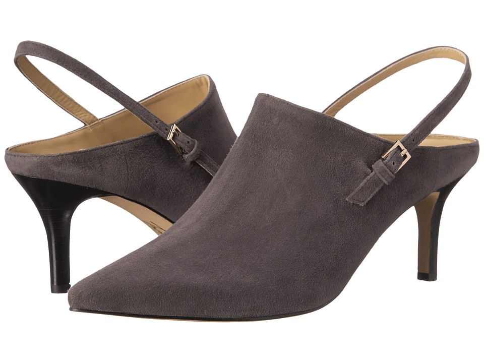 Trotters - Angel (Dark Grey Kid Suede Leather) High Heels