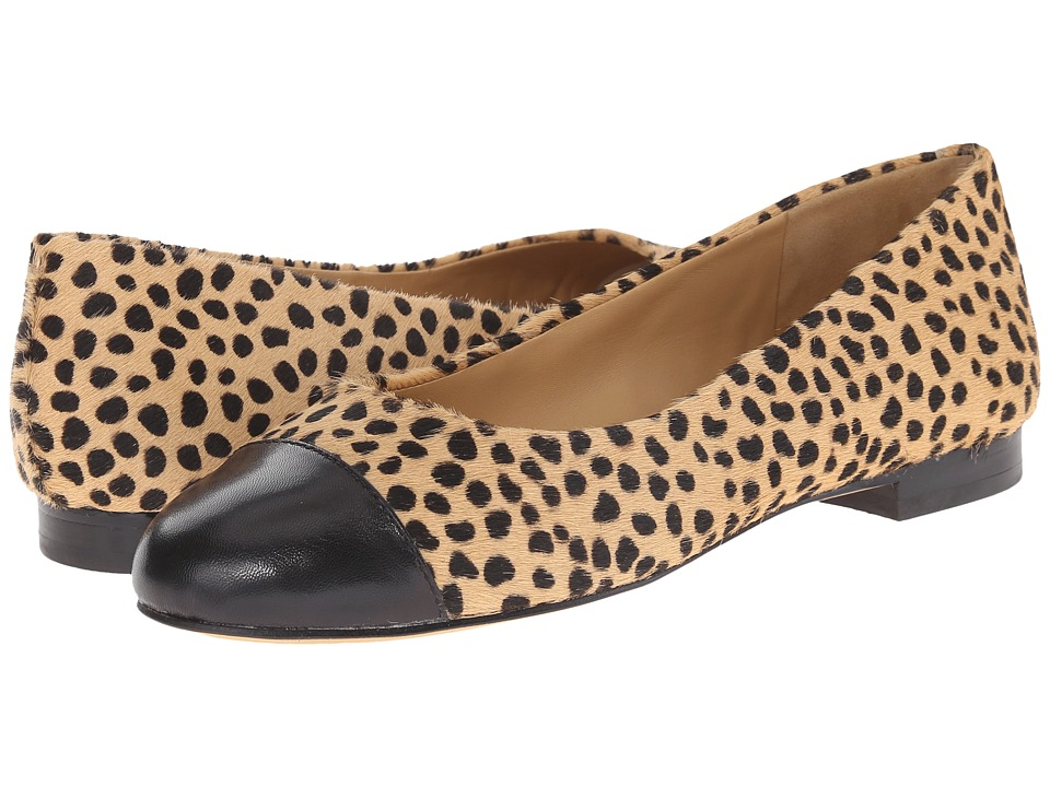 Trotters - Chic (Tan/Black Chetah/Glazed Kid Leather) Women