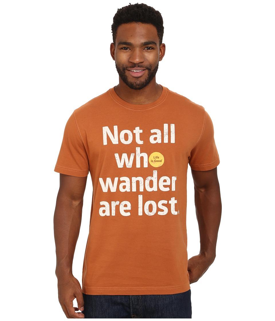 Life is Good - Crusher Tee (Rustic Copper/Wander Dot) Men's T Shirt
