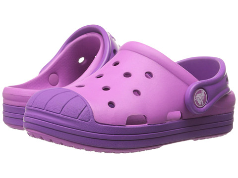 Crocs Kids - Bump It Clog (Toddler/Little Kid) (Wild Orchard/Amethyst) Girls Shoes