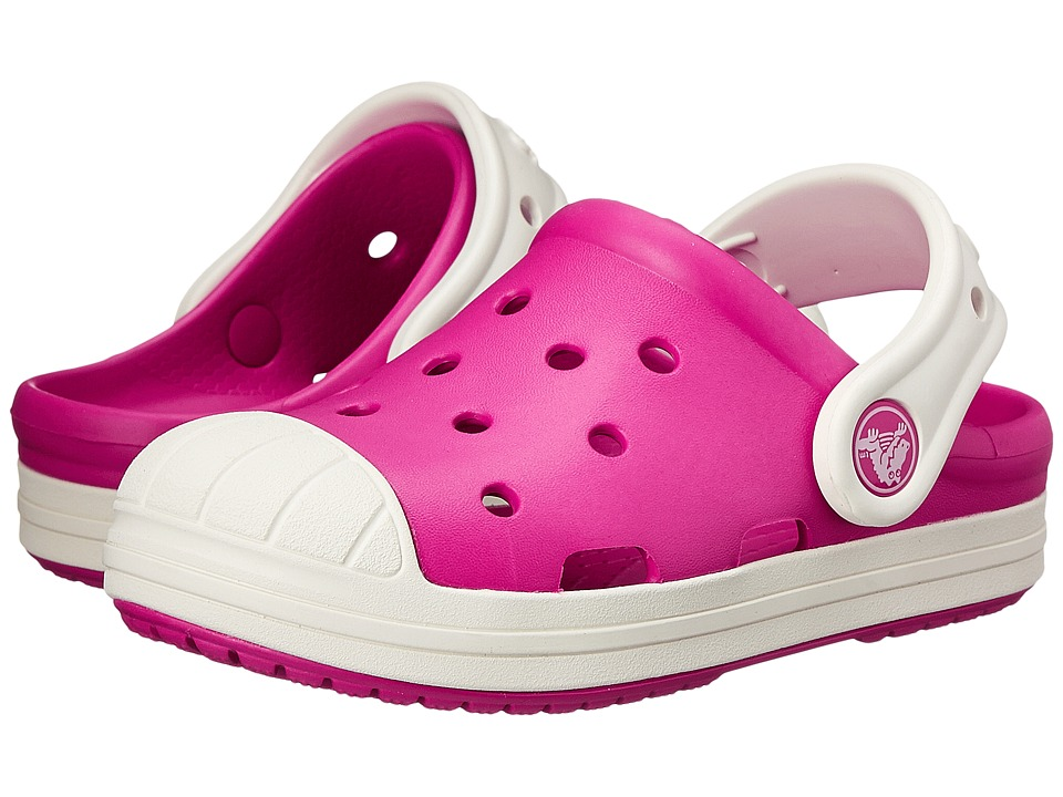 Crocs Kids - Bump It Clog (Toddler/Little Kid) (Candy Pink/Oyster) Girls Shoes