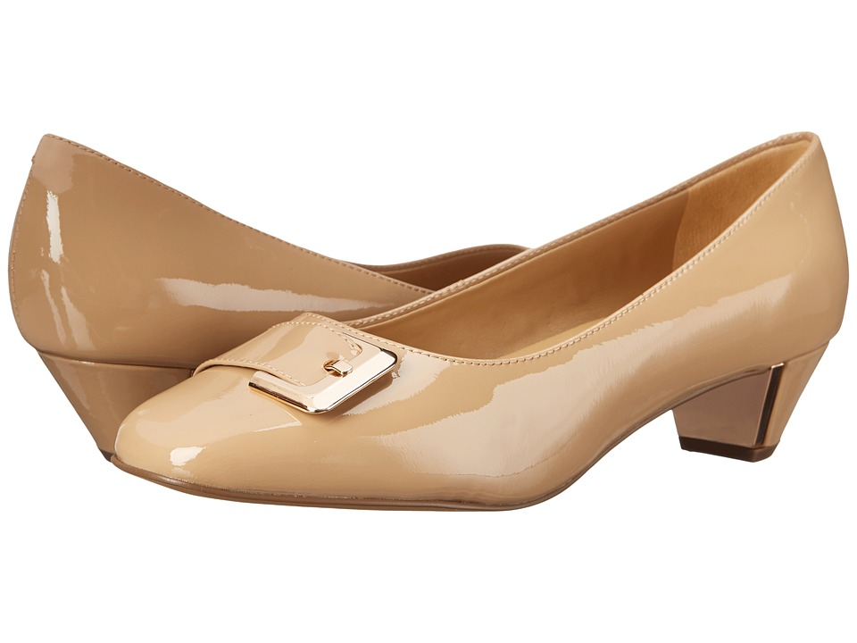 Trotters - Fancy (Nude Soft Patent Leather) Women's 1-2 inch heel Shoes