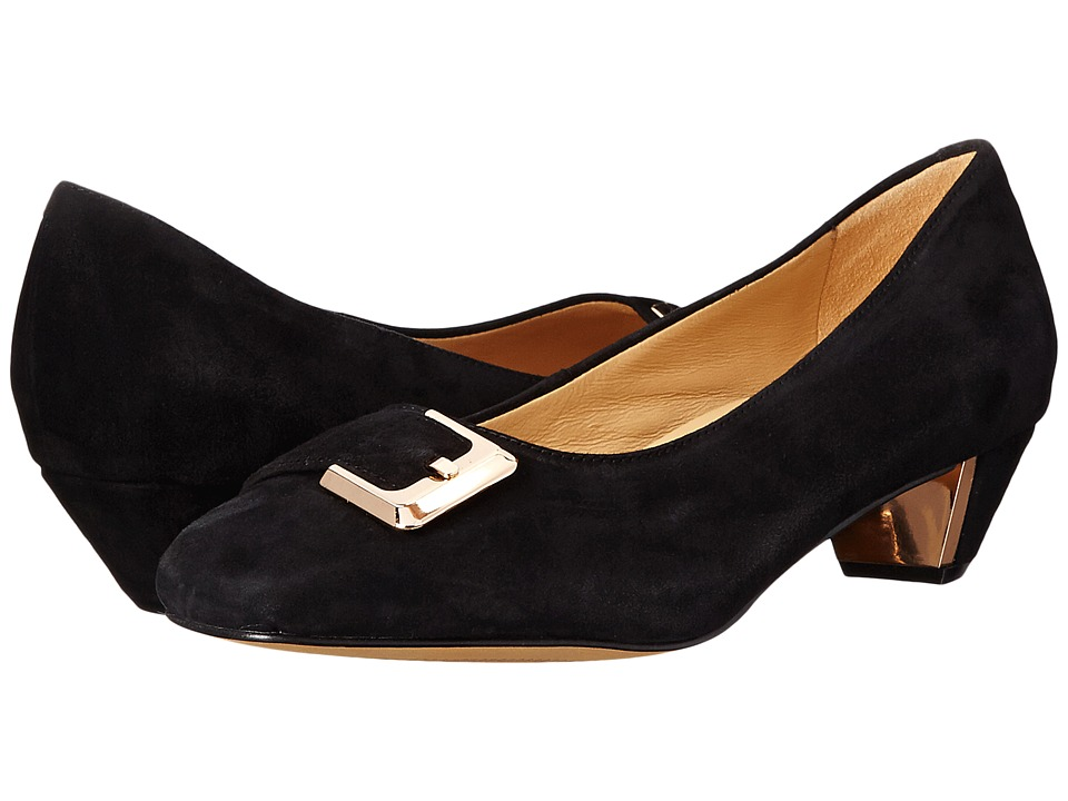 Trotters - Fancy (Black Kid Suede Leather) Women's 1-2 inch heel Shoes