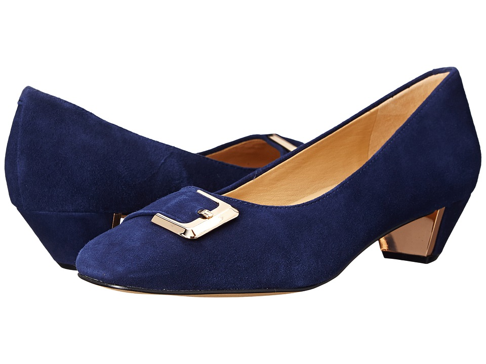 Trotters - Fancy (Navy Kid Suede Leather) Women's 1-2 inch heel Shoes