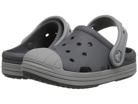 Crocs Kids - Bump It Clog (Little Kid/Big Kid) (Charcoal/Light Grey) Kids Shoes
