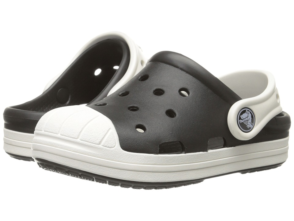 Crocs Kids - Bump It Clog (Little Kid/Big Kid) (Black/Oyster) Kids Shoes