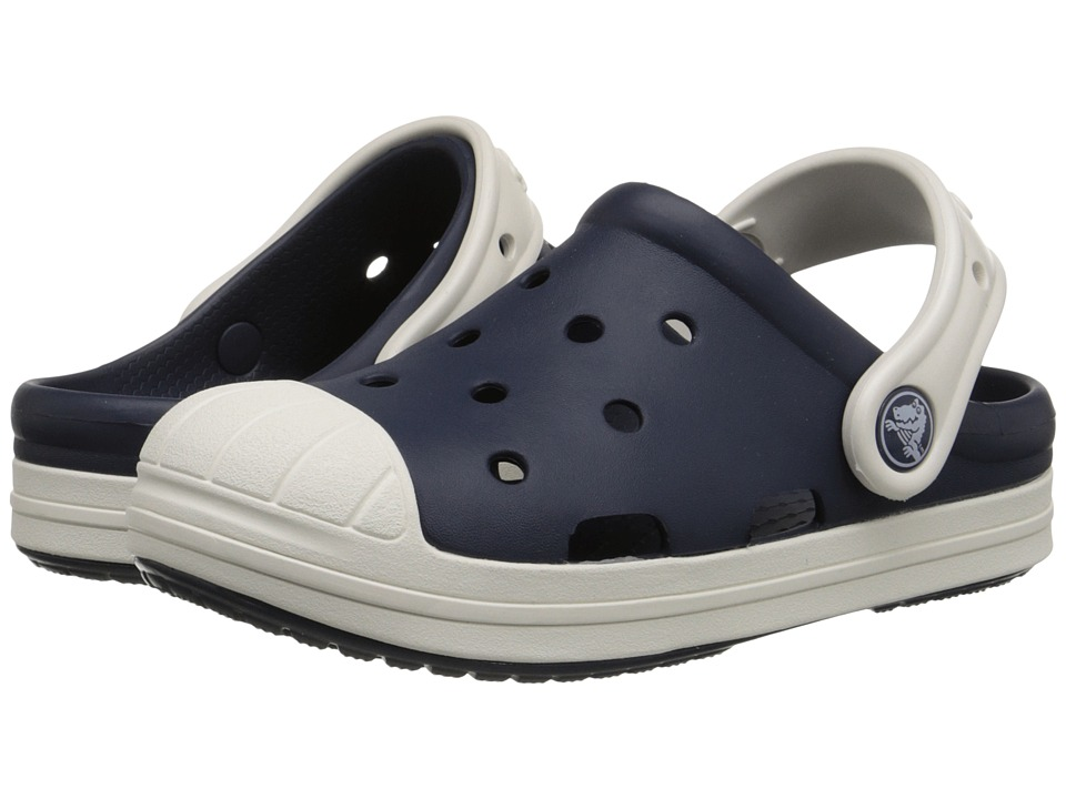 Crocs Kids - Bump It Clog (Little Kid/Big Kid) (Navy/Oyster) Kids Shoes