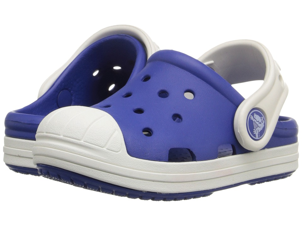 Crocs Kids - Bump It Clog (Little Kid/Big Kid) (Cerulean Blue/Oyster) Kids Shoes