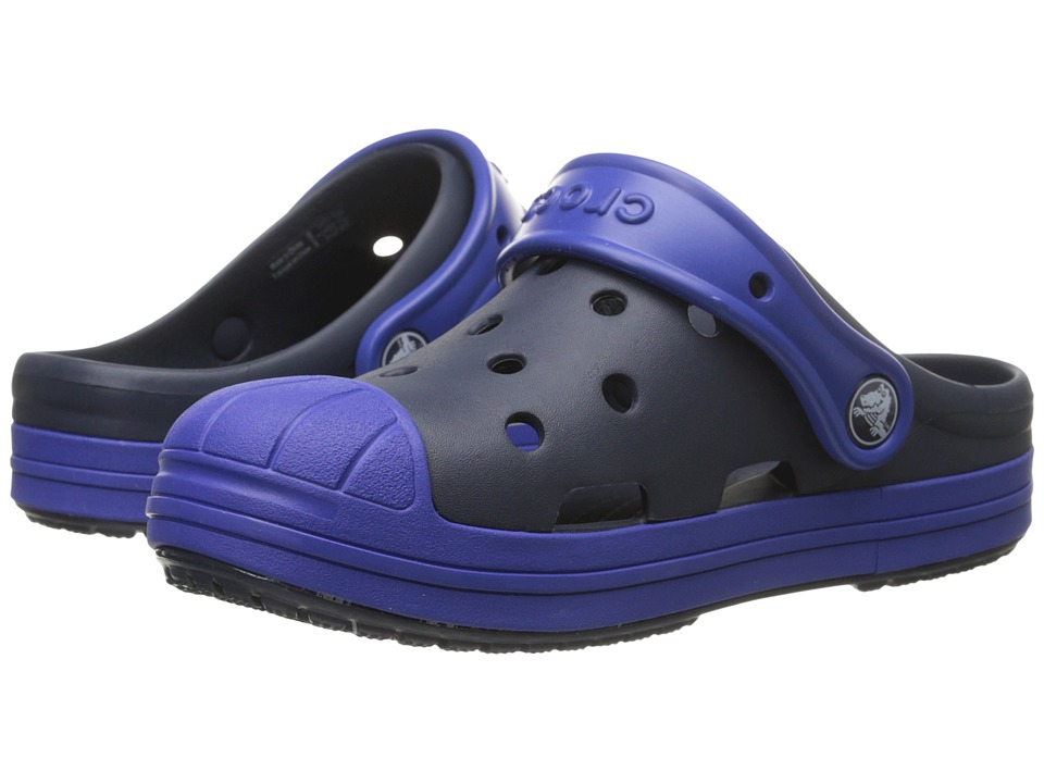 Crocs Kids - Bump It Clog (Little Kid/Big Kid) (Navy/Cerulean Blue) Kids Shoes
