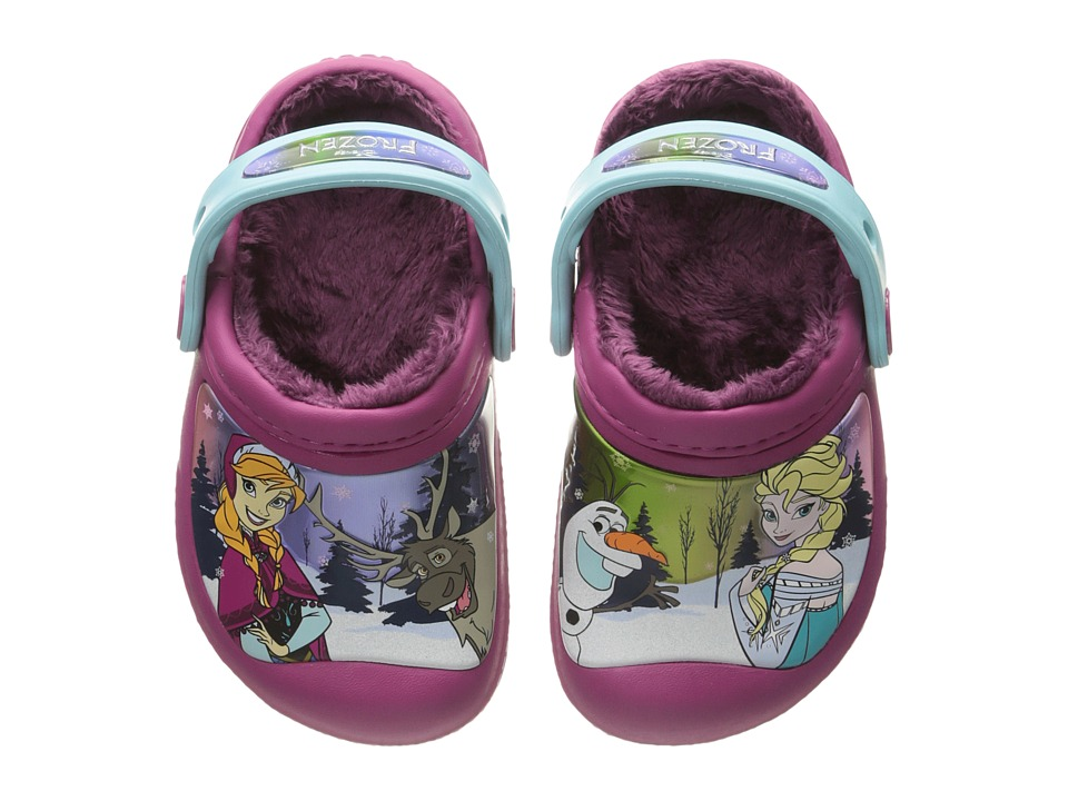 Crocs Kids - Frozen Lined Clog (Toddler/Little Kid) (Berry) Girls Shoes