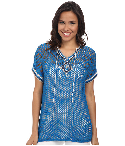 Tommy Bahama - Star Island Short Sleeve Pullover (Kona Blue) Women