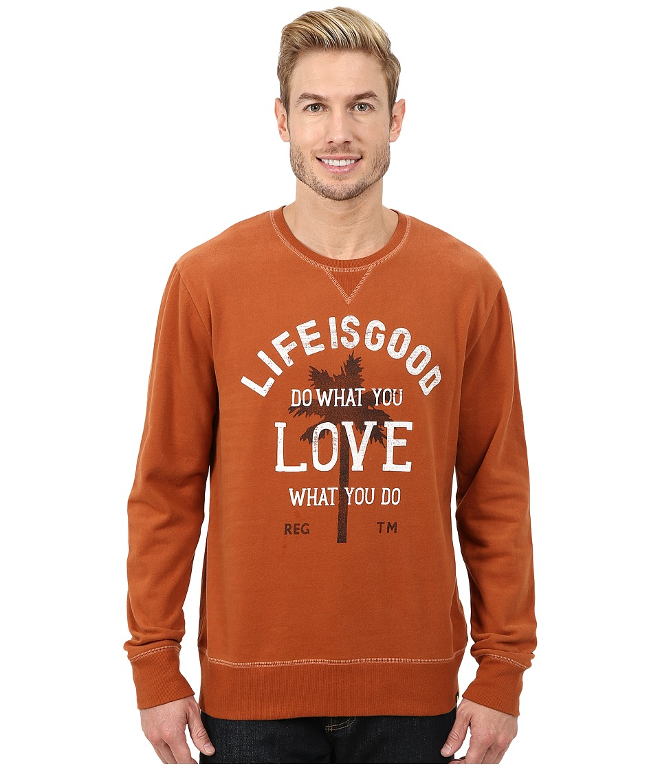 Life is good - Go-To Crew (Rustic Copper) Men's Long Sleeve Pullover