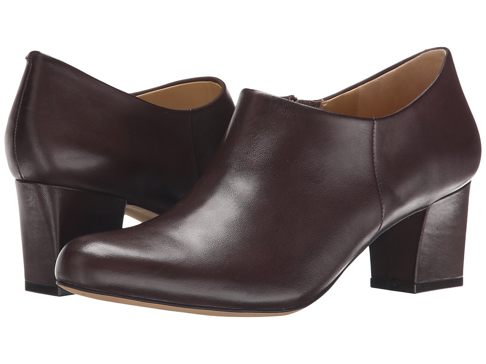 Trotters - Penny (Dark Brown Full Grain Soft Nappa Leather) High Heels