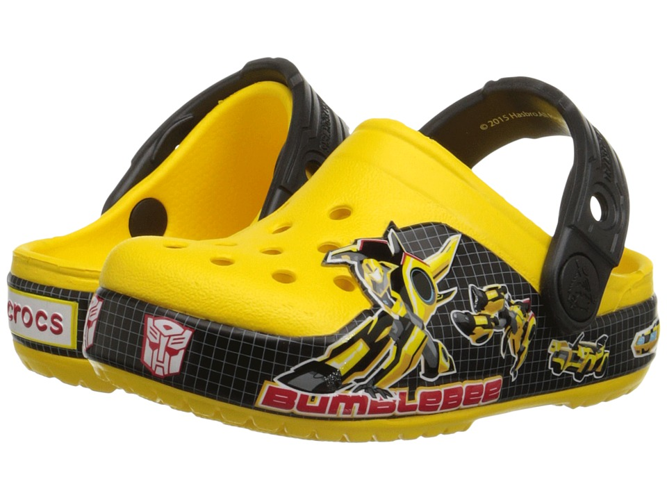 Crocs Kids - CB Transformers Bumblebee Clog (Toddler/Little Kid) (Yellow) Kids Shoes