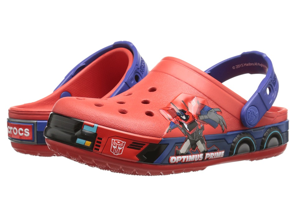 Crocs Kids - CB Transformers Optimus Prime Clog (Toddler/Little Kid) (Flame/Cerulean Blue) Kids Shoes