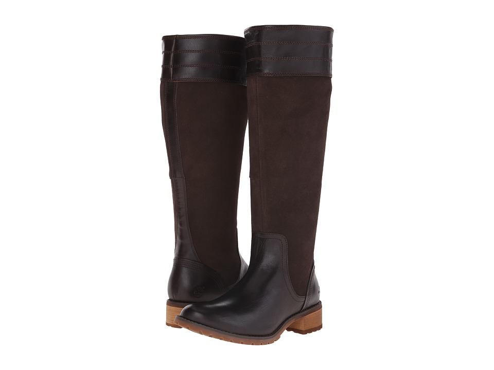 Timberland - Bethel Heights All Fit Tall Boot (Dark Brown Euroveg/Suede) Women's Boots