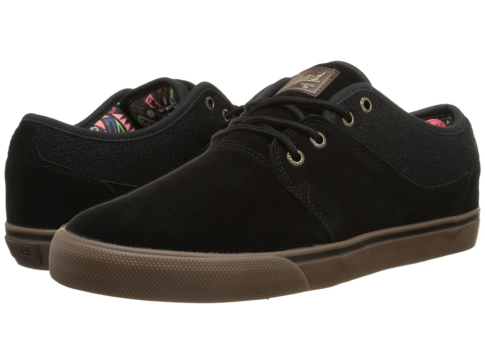 Globe - Mahalo (Black/Tobacco Gum) Men's Skate Shoes