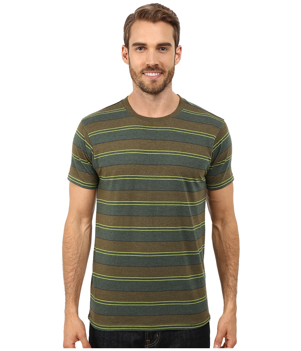 Prana - Throttle Crew (Cargo Green) Men's Short Sleeve Knit