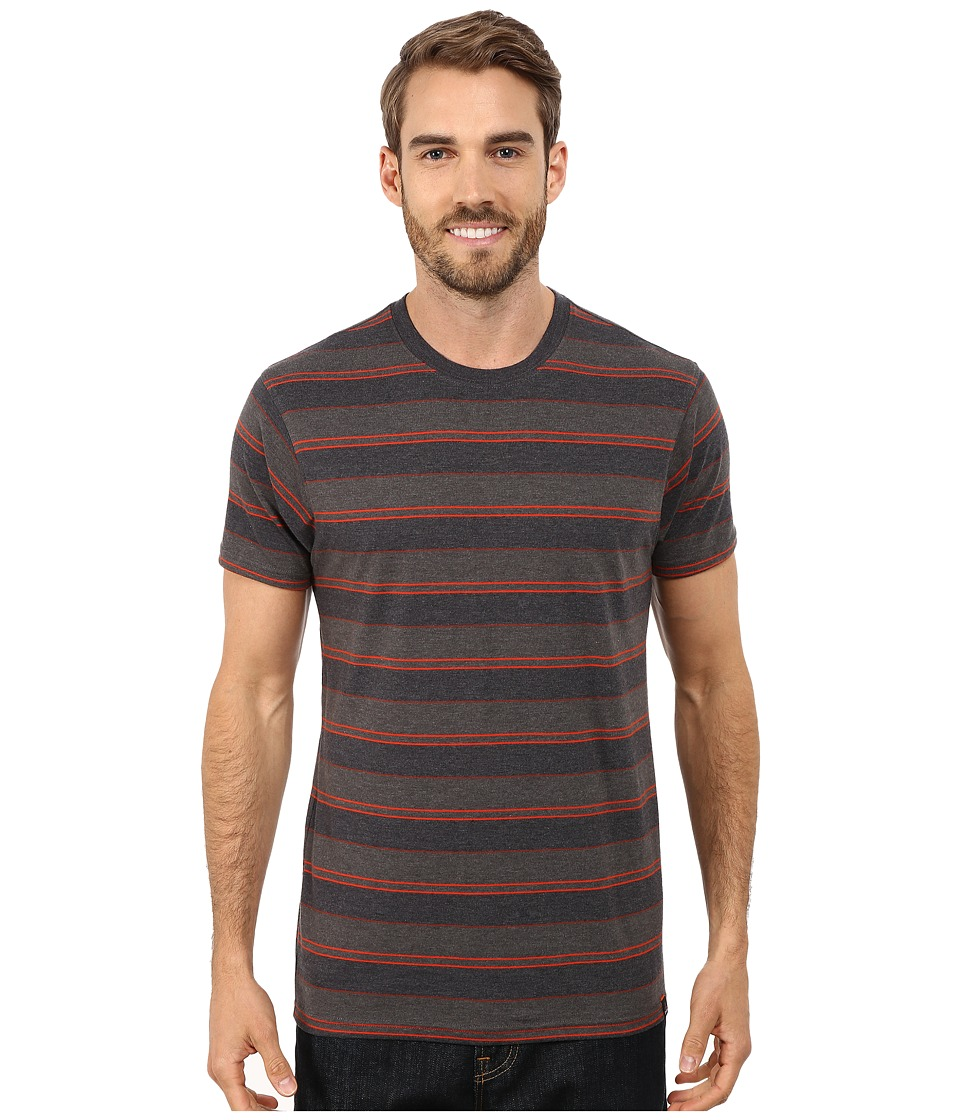 Prana - Throttle Crew (Charcoal) Men's Short Sleeve Knit
