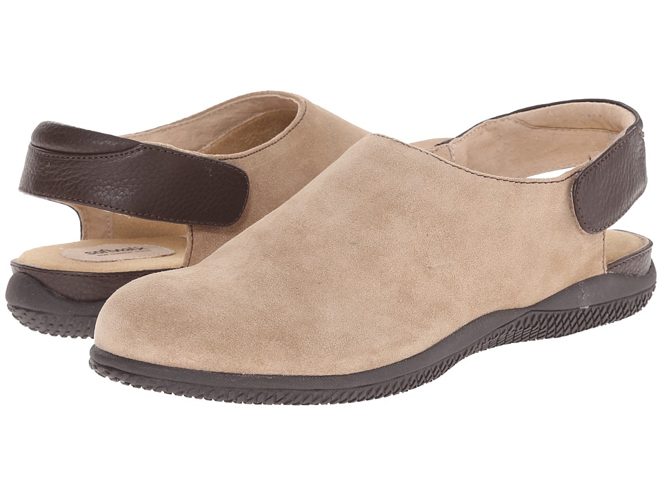 SoftWalk Holland (Sand/Dark Brown Cow Suede Leather/Smooth Leather) Women