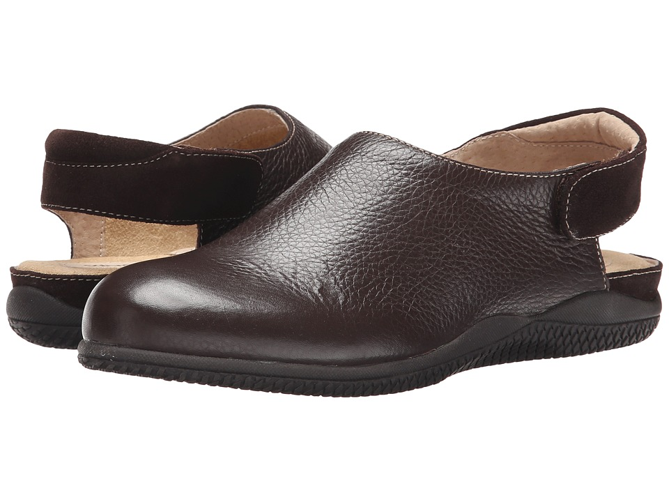 SoftWalk - Holland (Dark Brown Soft Tumbled Leather/Suede Leather) Women