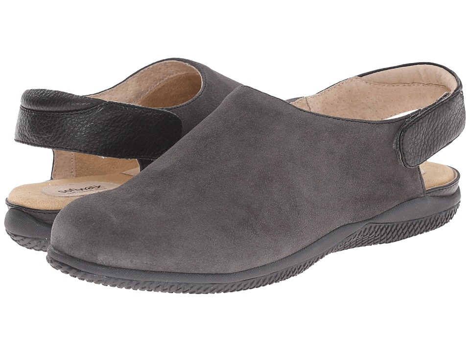 SoftWalk - Holland (Graphite/Black Cow Suede Leather/Smooth Leather) Women