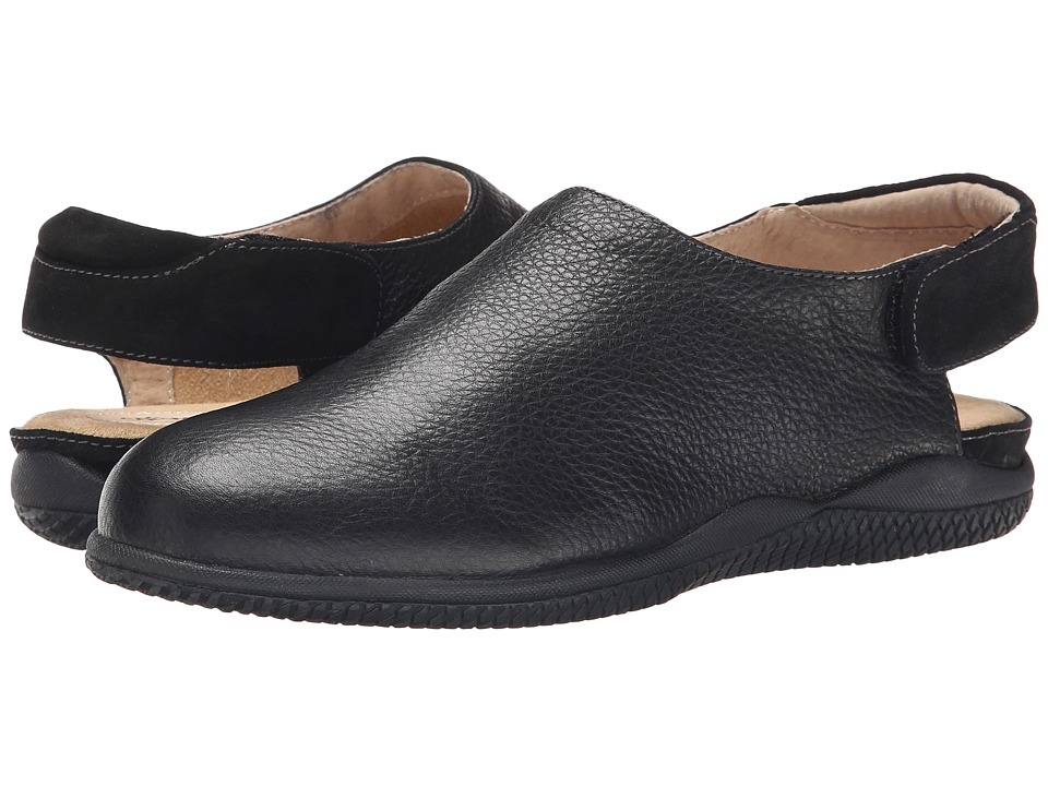 SoftWalk Holland (Black Soft Tumbled Leather/Suede Leather) Women