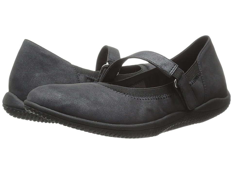 SoftWalk Hollis (Black Distressed Nubuck Leather) Women