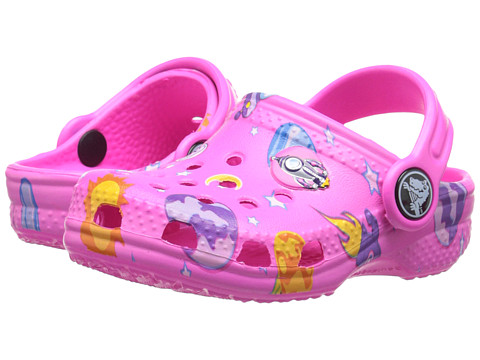 Crocs Kids - Classic Galactic Clog (Toddler/Little Kid) (Neon Magenta) Girls Shoes