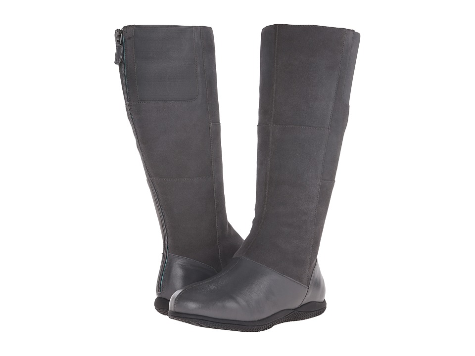SoftWalk - Hollywood Wide Calf (Graphite Soft Nappa Leather/Cow Suede Leather) Women's Wide Shaft Boots
