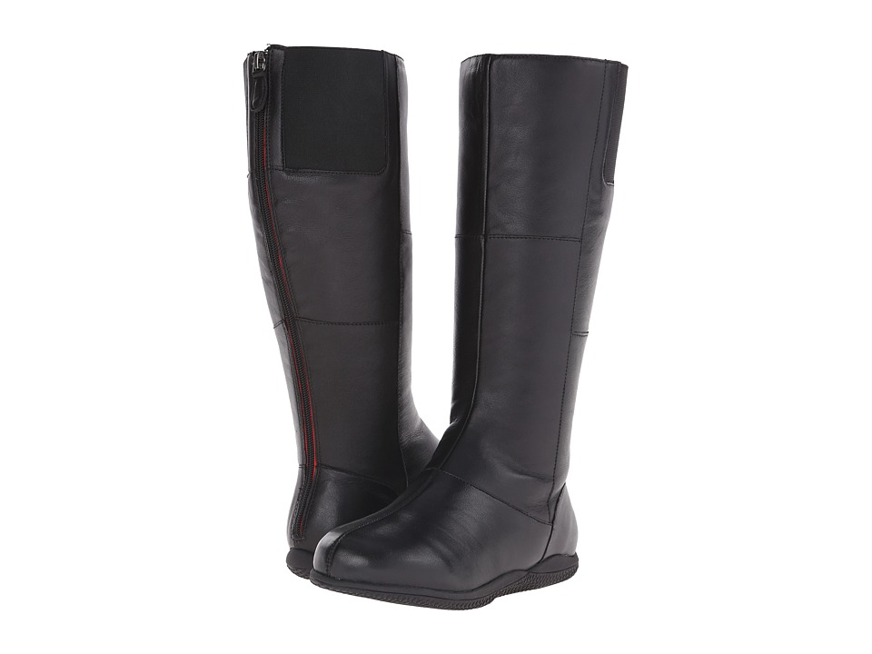 SoftWalk - Hollywood Wide Calf (Black Soft Nappa Leather) Women's Wide Shaft Boots
