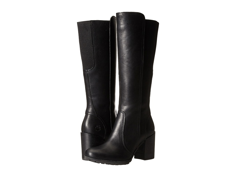 Timberland Swazey Tall Waterproof Boot (Black Forty Leather) Women