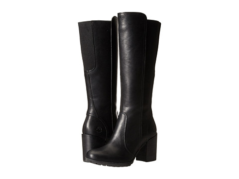 Timberland - Swazey Tall Waterproof Boot (Black Forty Leather) Women