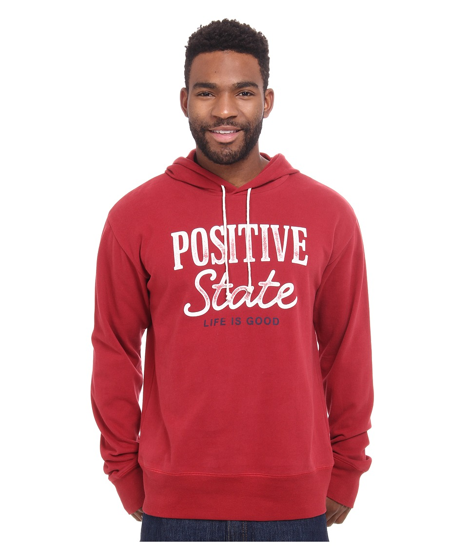 Life is good - Go-To Hoodie (Rich Red) Men's Sweatshirt