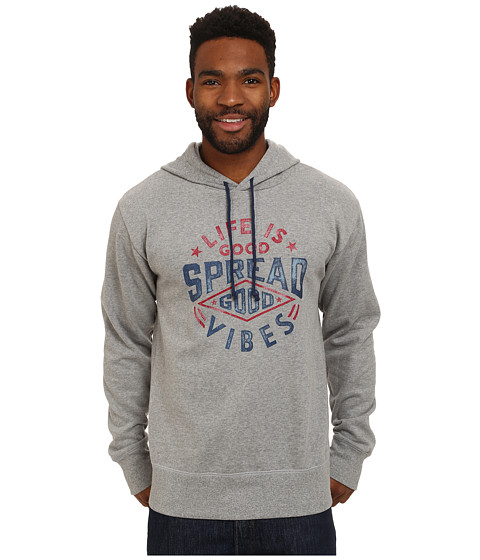 Life is good - Go-To Hoodie (Heather Grey 3) Men's Sweatshirt