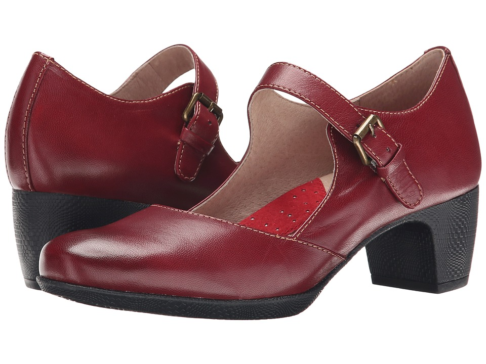 SoftWalk - Irish (Dark Red Kid Leather) High Heels