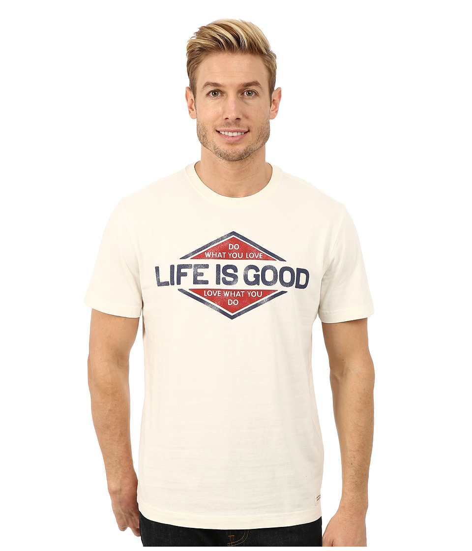 Life is good - Crusher Tee (Simply Ivory/Branded You Love) Men's T Shirt