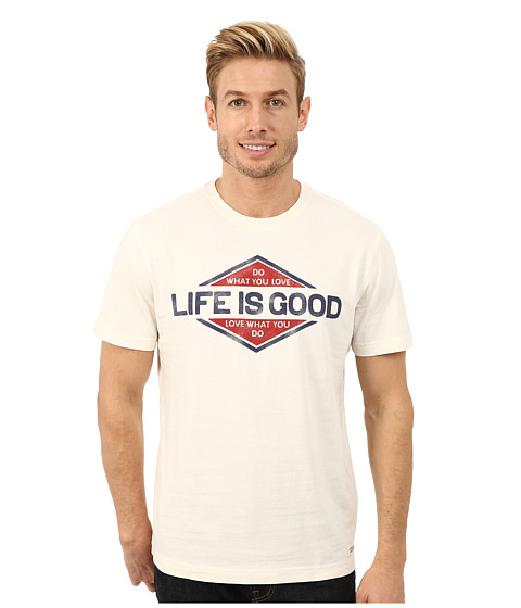 Life is good - Crusher Tee (Simply Ivory/Branded You Love) Men