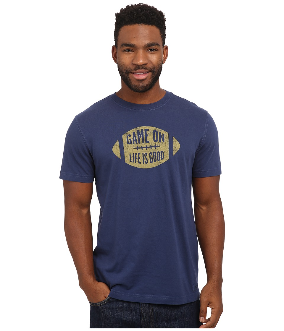 Life is good - Crusher Tee (Darkest Blue/Football Game On) Men's T Shirt