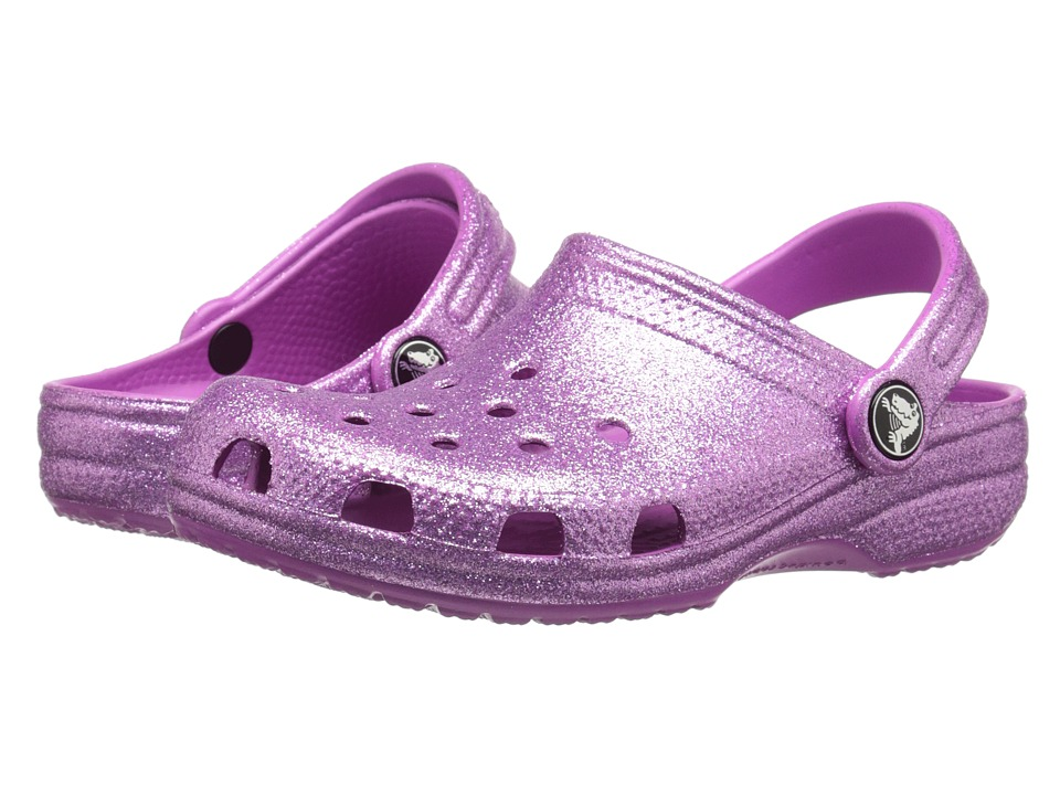 Crocs Kids - Classic Sparkle Clog (Toddler/Little Kid) (Wild Orchid) Girls Shoes