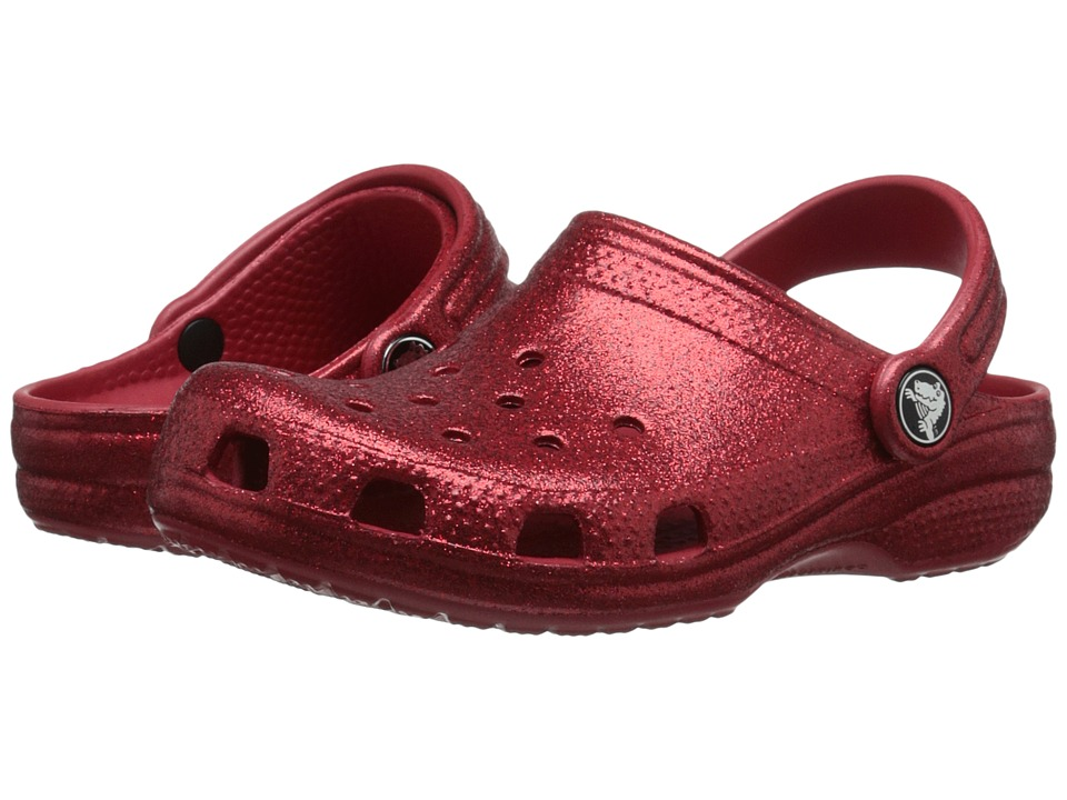 Crocs Kids - Classic Sparkle Clog (Toddler/Little Kid) (Pepper) Girls Shoes