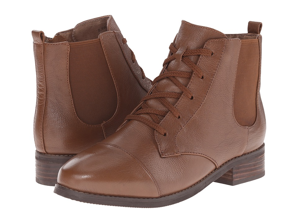 SoftWalk - Miller (Cognac Soft Wax Tumbled Leather) Women