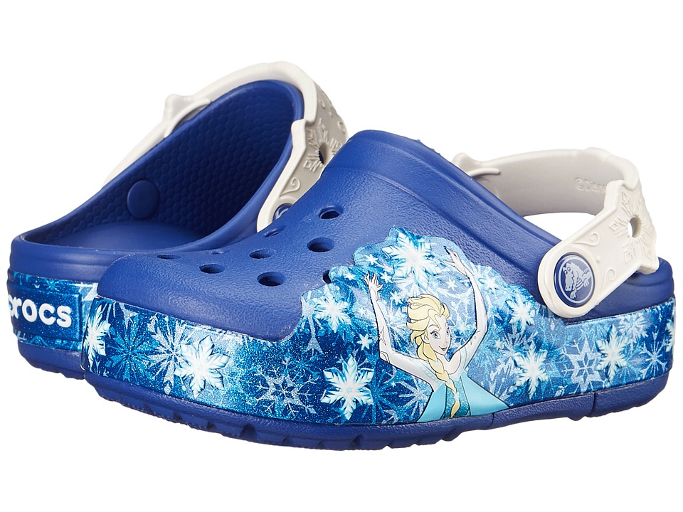 Crocs Kids - CrocsLights Frozen Clog (Toddler/Little Kid) (Cerulean Blue/Oyster) Girls Shoes