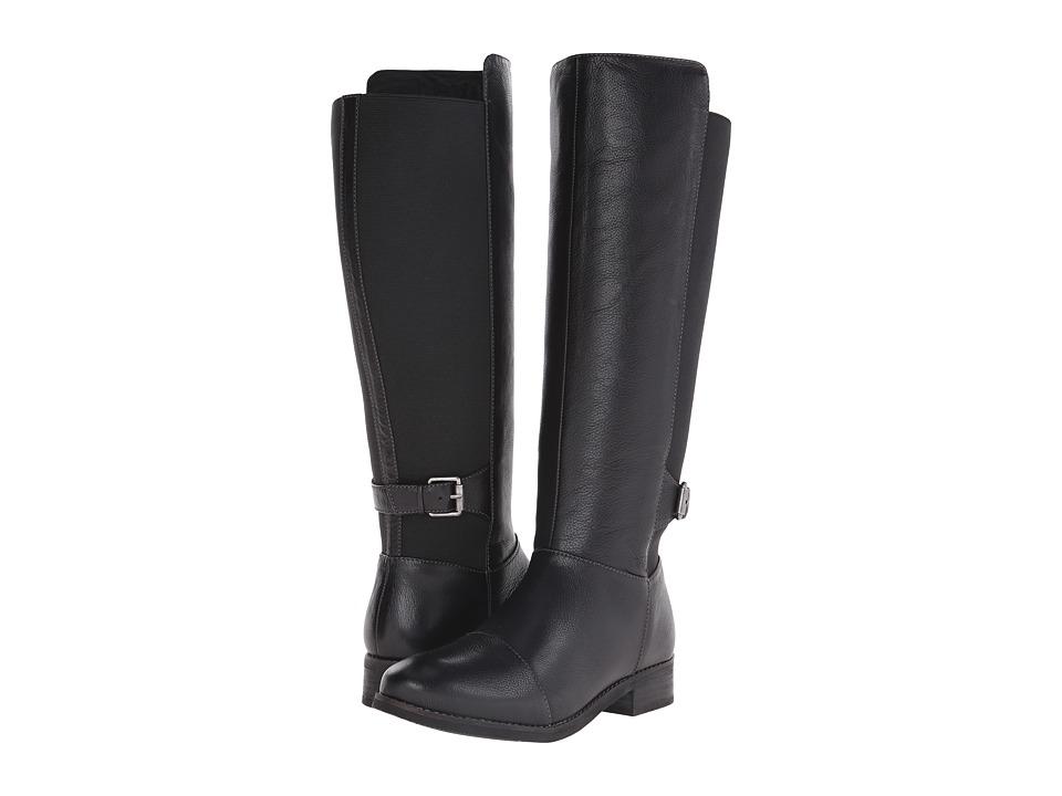 SoftWalk Mission (Black Soft Wax Tumbled Leather) Women