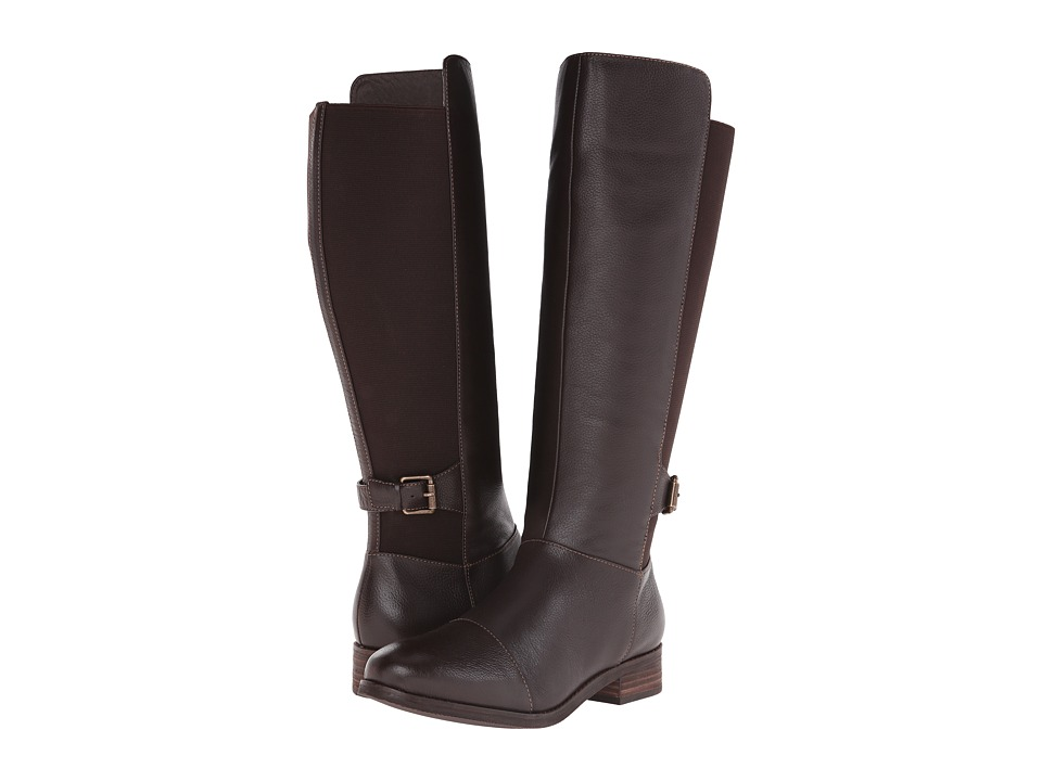 SoftWalk - Mission (Dark Brown Soft Wax Tumbled Leather) Women's Boots